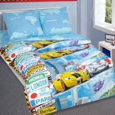 Комплект дитячої постільної білизни Суперкар бязь люкс